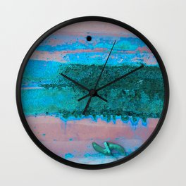 Rusted Middle Mauve and Turquoise Wall Clock