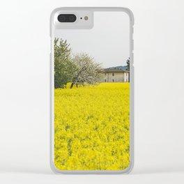 Rape field Clear iPhone Case
