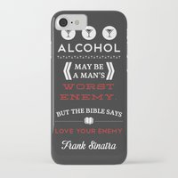 frank sinatra iPhone & iPod Cases featuring Frank Sinatra by Tanner Wheat