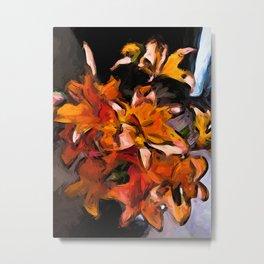 Lilies of Orange 1 Metal Print