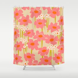 Relax in your summer meadow – floral shapes pattern Shower Curtain