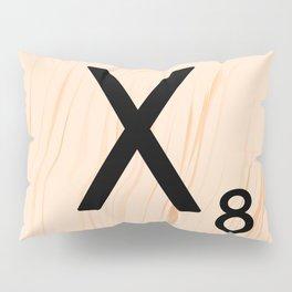 Scrabble Letter X - Scrabble Art and Apparel Pillow Sham