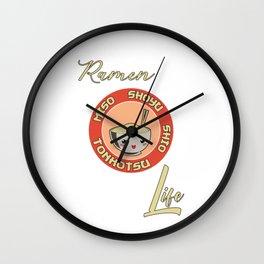 Ramen Life Japanese Noodles Miso Vintage Retro Style Wall Clock