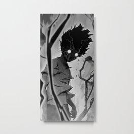 Mob Psycho 100 BW Metal Print