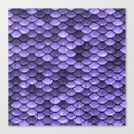Mermaid Scales Periwinkle Ultra Violet Canvas Print