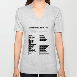 International Morse Code Unisex V-Neck