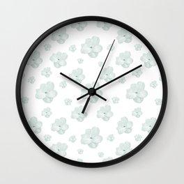 Pastel Floral Motif Pattern Wall Clock