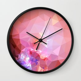 Geometric galaxy low poly 2 Wall Clock