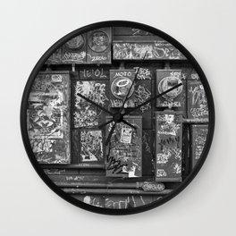New Orleans - Frenchmen Street Graffiti Wall Clock