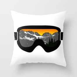 Sunset Goggles 2 | Goggle Designs | DopeyArt Throw Pillow