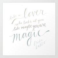 Frida Kahlo Lover Quote Art Print