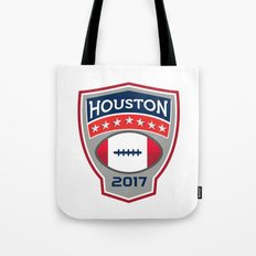 Houston 2017 American Football Big Game Crest Retro Tote Bag