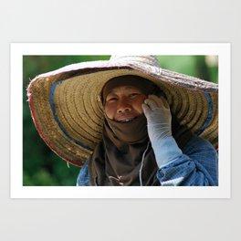 Woman in Hat Art Print