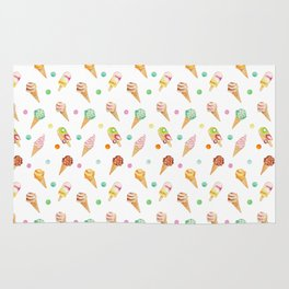 Cool Sweets / Watercolor Ice Cream Rug