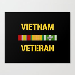 Vietnam Veteran Ribbon Bar Canvas Print