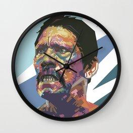 Angry Trejo Wall Clock