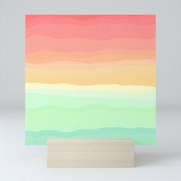 Ice Cream Pastel Rainbow Mini Art Print