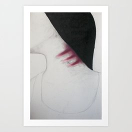 What you say is nothing compared to what I do to myself unknowingly.  Art Print