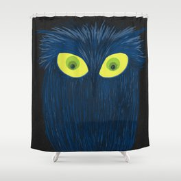The Blue Owl Shower Curtain