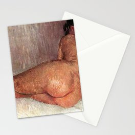 Van Gogh Nude Woman Reclining Seen From The Back Stationery Cards