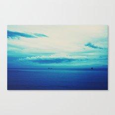 dark blue day Canvas Print