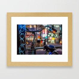 Night bokeh Framed Art Print