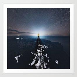 Projecting on the Horizon Art Print