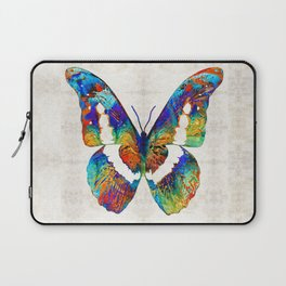 Colorful Butterfly Art by Sharon Cummings Laptop Sleeve