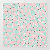Seg African Blush Mint Canvas Print
