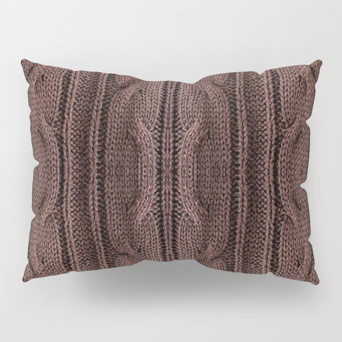 Brown braid jersey cloth texture abstract Pillow Sham