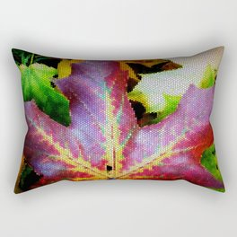 Autumn Leaves - Colored Glass Rectangular Pillow