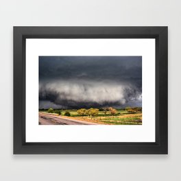 Tornado Day - Storm Touches Down in Northwest Oklahoma Framed Art Print
