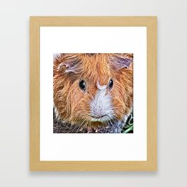 Painted Guinea Pig 5 Framed Art Print