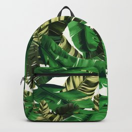 Swaying banana leaf palm green Backpack