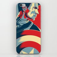 avenger iPhone & iPod Skins featuring The First Avenger by Olivia Desianti