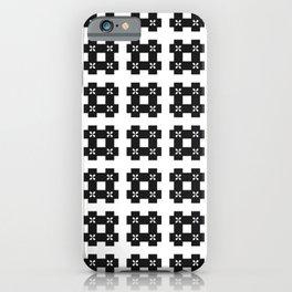 Phillip Gallant Media Design - Special Black Hash On White iPhone Case