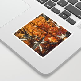 Pyroxene Crystals Sticker
