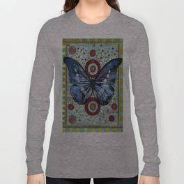 """Big Blue Butterfly"" copyright Ray Stephenson 2013 Long Sleeve T-shirt"