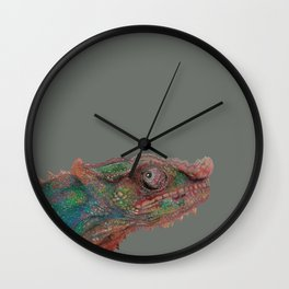 Colorful Chameleon Wall Clock