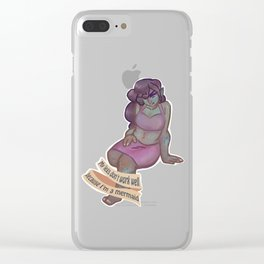 My legs don't work well because I'm a mermaid Clear iPhone Case