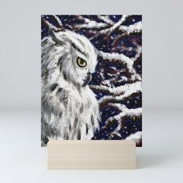 Snow Owl Mini Art Print