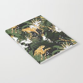 Animals in the glamorous nocturnal jungle Notebook