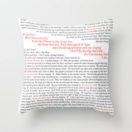 American Pie (all of it) Throw Pillow