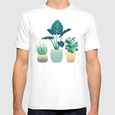 Potted Plants MEDIUM Mens Fitted Tee White
