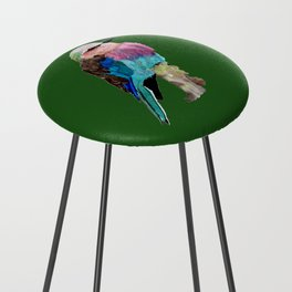 Lilac Breasted Roller Bird Counter Stool