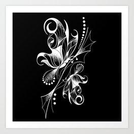 Borboletas invertidas Art Print