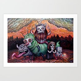 Black Storm On The Rise Art Print
