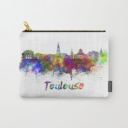 Toulouse skyline in watercolor Carry-All Pouch