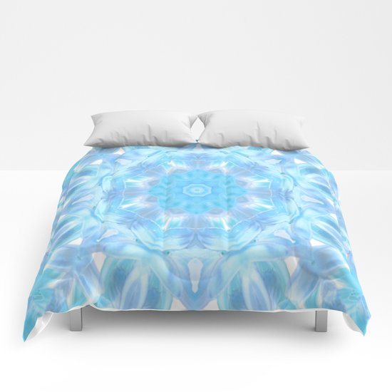 Soft Shades of Color Kaleidoscope Comforters