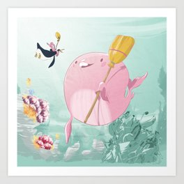 Chloé underwater Art Print